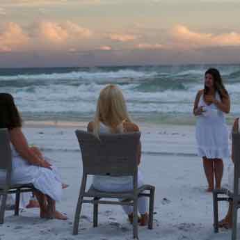 Students on the Beach - Follow Psychic Medium and Mentor @LindsayMarinoMedium on Instagram